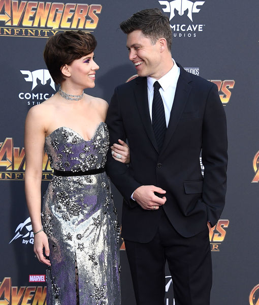 Scarlett Johansson & Colin Jost Make Red-Carpet Debut, Plus: Her Priceless Reaction to His Throwback Photo