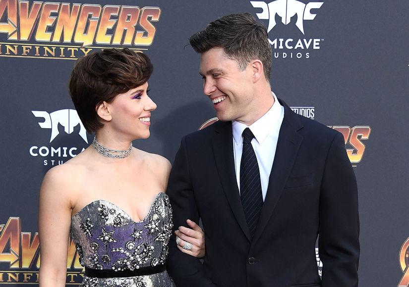 Scarlett Johansson & Colin Jost Make Red-Carpet Debut, Plus: Her Priceless…