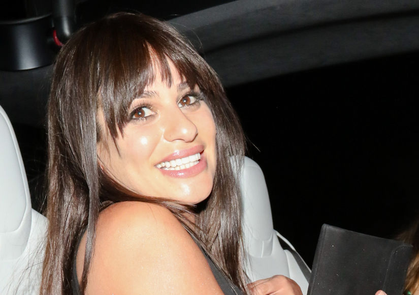 Lea Michele Shares Engagement Glee!