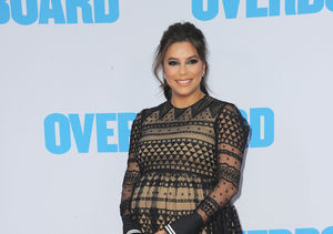 Eva Longoria Jokes About Giving Birth at 'Overboard' Premiere