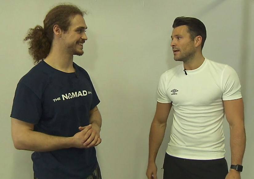 Brains & Brawn! 'Extra's' Mark Wright Tries a Workout at Nomad Gym