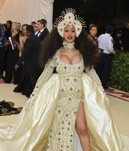 Cardi B and Her Bejeweled Baby Bump Hit the Met Gala Red Carpet
