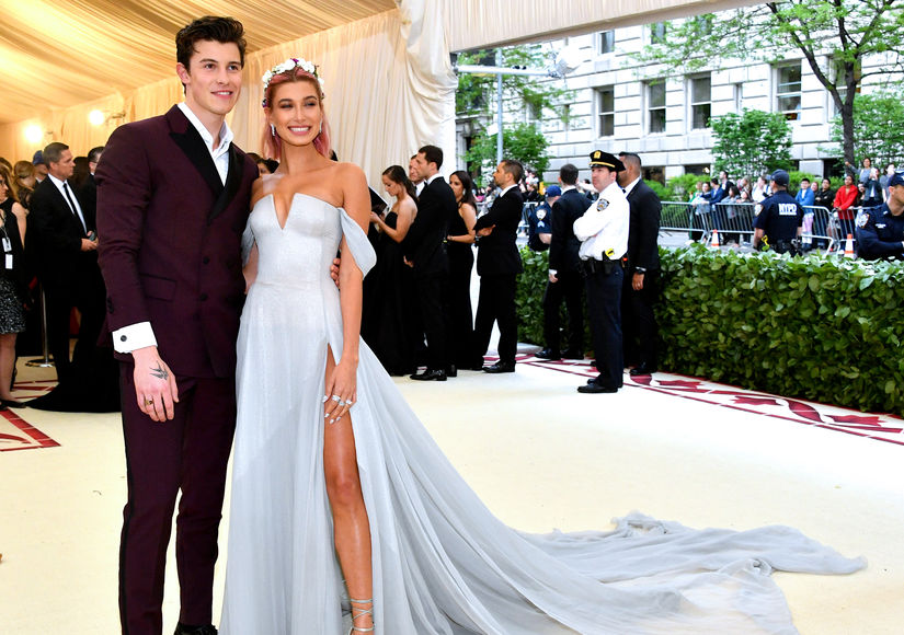 Shawn Mendes & Hailey Baldwin Make It Red-Carpet Official at Met Gala
