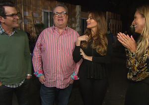 Trapped! 'Extra' Visits 'Modern Family' Set