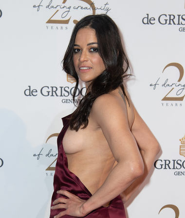 Michelle Rodriguez Flashes Major Side Boob in Cannes, Narrowly…
