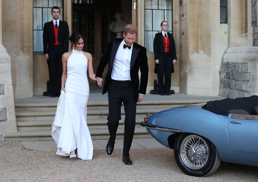 Video! See Meghan Markle's Dress for the Evening Wedding Reception