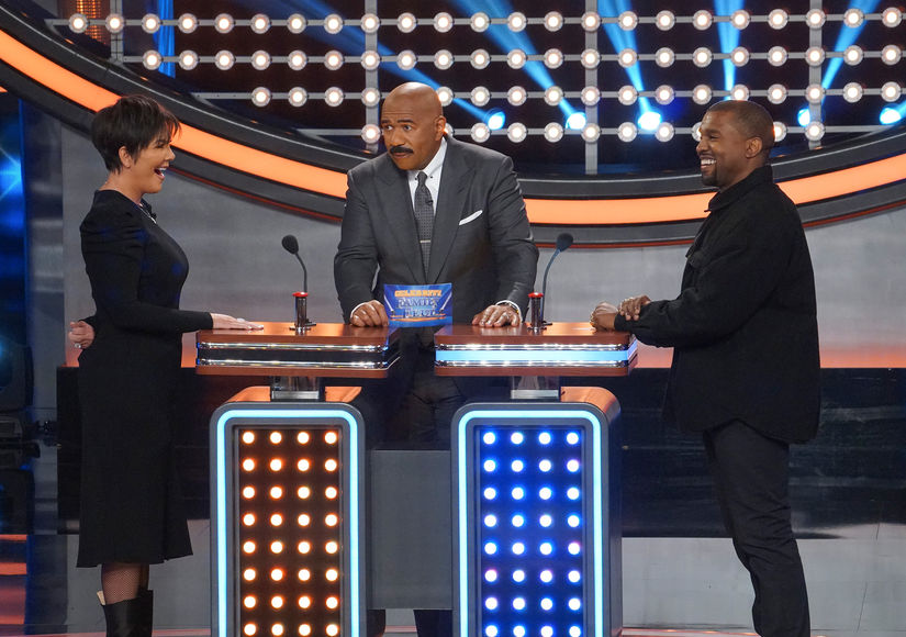 You've Got to See the Kardashians Take on the Wests on 'Celebrity Family Feud'