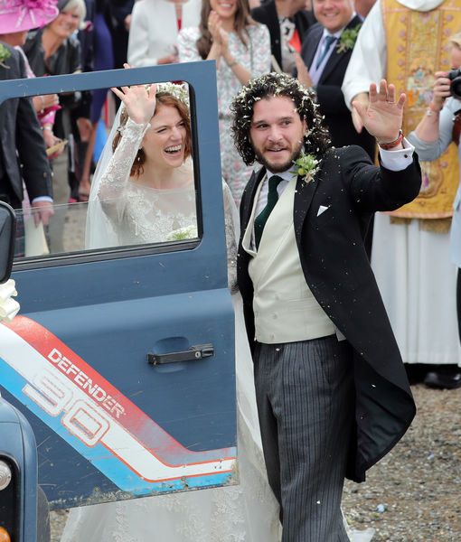 Rose Lesiie Kit Harrington wedding Scotland june23 2018 wpGettyImages-982171142