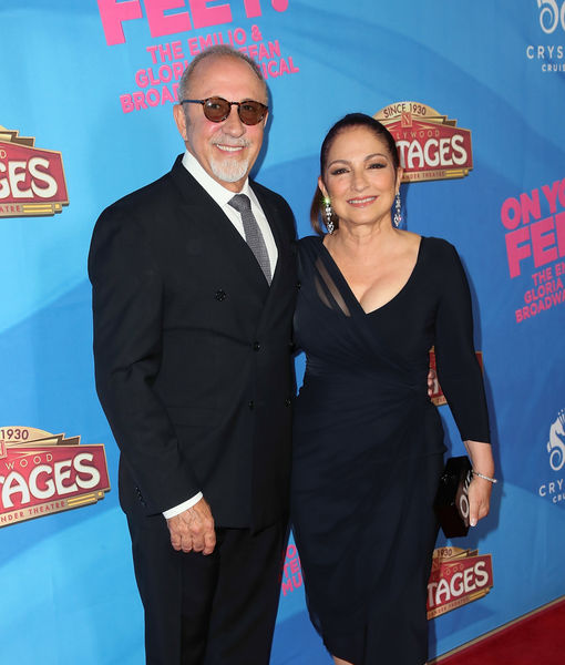Emilio & Gloria Estefan Dish on J.Lo's 50th Birthday Bash