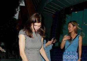 Alexandra Daddario Suffers Wardrobe Malfunction During Dinner Outing