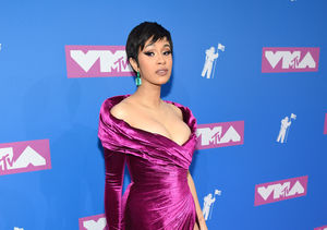 MTV VMAs! Cardi B Reveals New 'Do on First Post-Baby Red Carpet