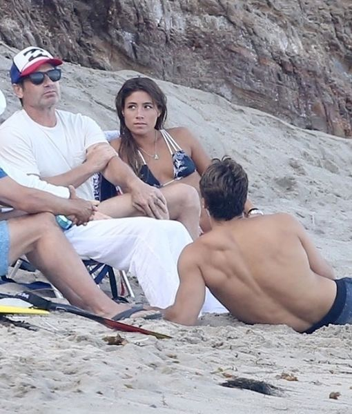 David Duchovny & Much Younger GF Enjoy Beach Day in Malibu