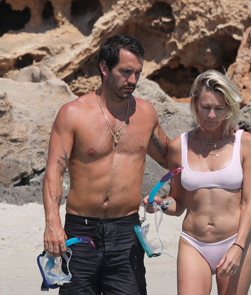 PDA Alert! Robin Wright Flaunts Bikini Body on Honeymoon