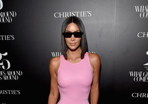 Kim Kardashian Suffers Wardrobe Malfunction in Pink Minidress