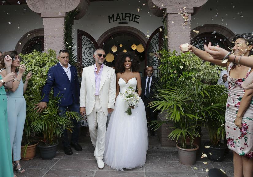Wedding Pics! Vincent Cassel Marries Model GF Tina Kunakey