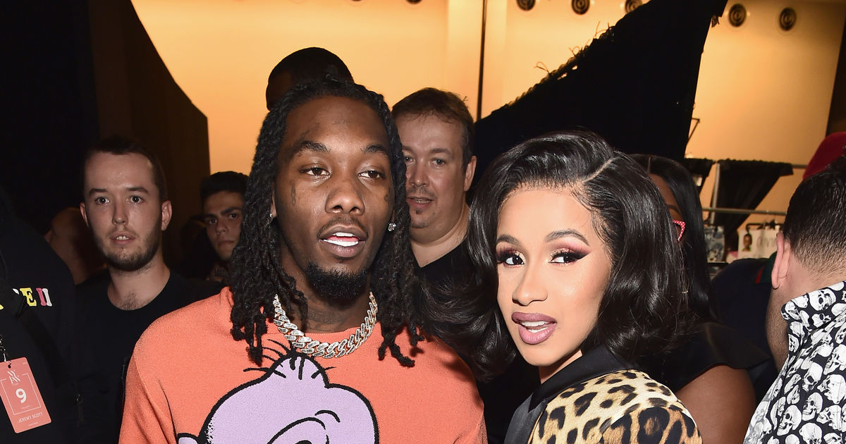 Cardi B S Husband S Lawyer Says Offset Targeted By: Cardi B's Sweet Words About Husband Offset At Jeremy Scott