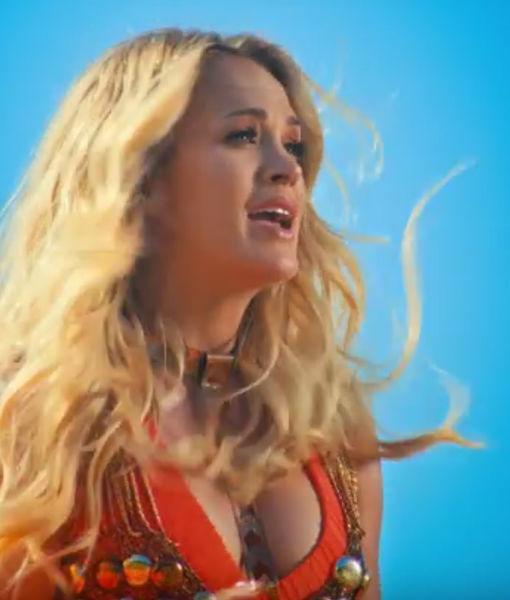 Watch! Carrie Underwood Gives Sneak Peek of Baby Bump in 'Love Wins' Music…