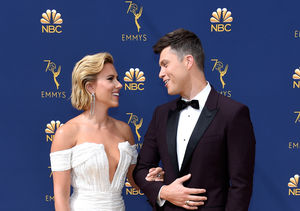 Boo'd Up! Scarlett Johansson & Colin Jost Were Just Too Cute at…