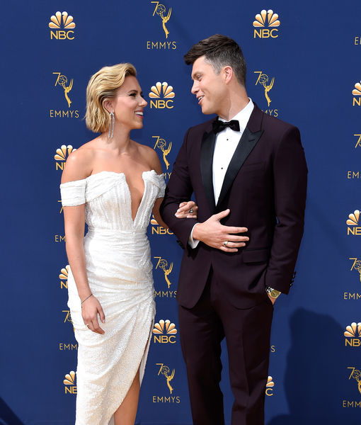 Boo'd Up! Scarlett Johansson & Colin Jost Were Just Too Cute at the Emmys