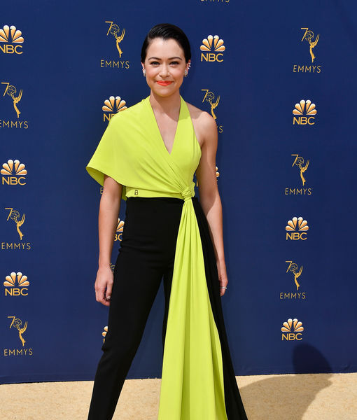 Emmys Fashion: Tatiana Maslany Stuns in Daring Yellow-and-Black Ensemble
