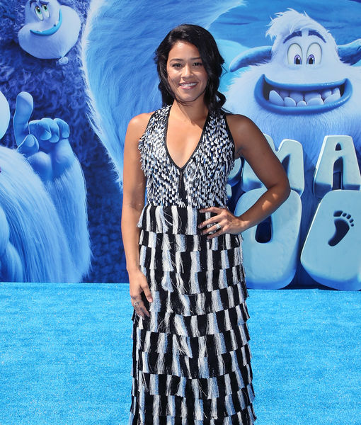Gina Rodriguez Flaunts Engagement Ring at 'Smallfoot' Premiere