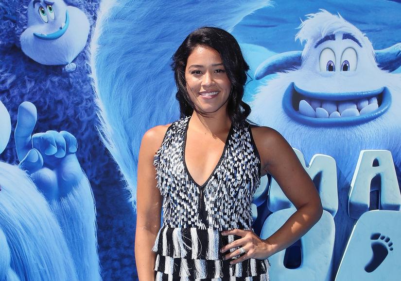 Gina Rodriguez Flaunts Engagement Ring at 'Smallfoot' Premiere