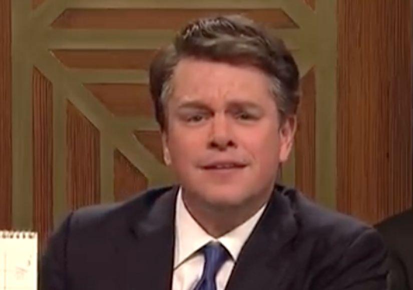 Matt Damon Plays a Flustered Brett Kavanaugh on 'SNL'