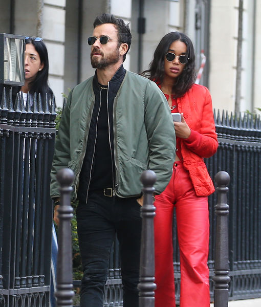 Justin Theroux & Laura Harrier Fuel More Romance Rumors
