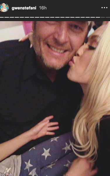 Gwen Stefani & Blake Shelton Pack on the PDA on Her 49th Birthday