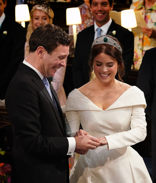 Pics! Princess Eugenie's Wedding Dress Showed Off Her Spinal Surgery Scar