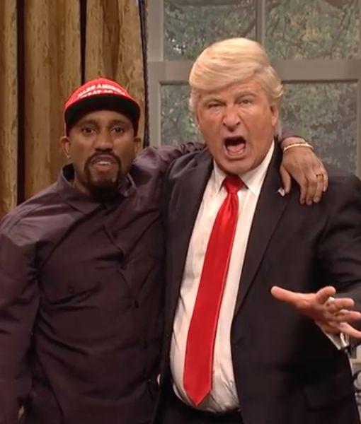 'SNL' Skewers Meeting Between Trump & Kanye