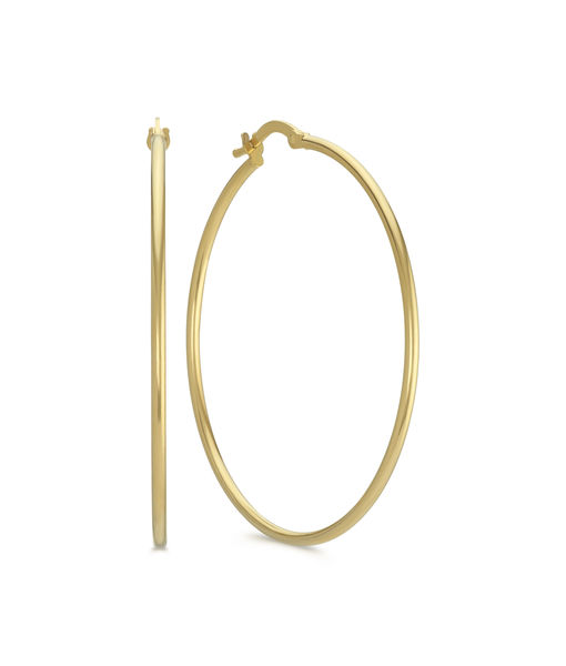 Win It! A Pair of 14k Yellow Gold Hoop Earrings from Shane Co.
