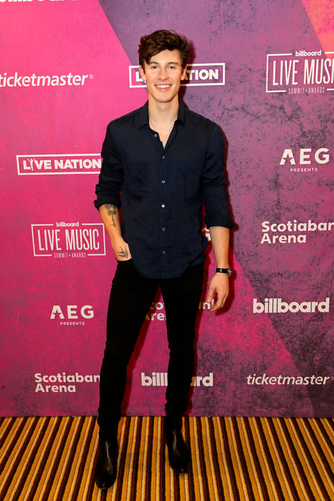 05cce52a Shawn Mendes looked handsome on the first day of the Billboard Live Music  Summit & Awards in Los Angeles.