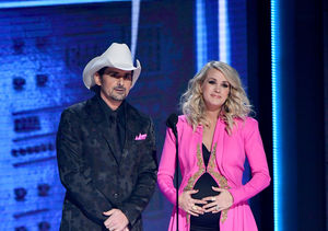 Carrie Underwood's Baby Bump Fashions at the CMA Awards