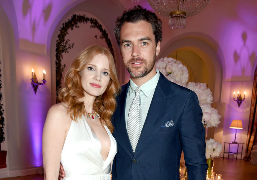 Jessica Chastain & Gian Luca Passi de Preposulo Welcome First Child