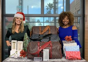 'Extra's' Holiday Pop-Up Shop: Facial Rollers, Travel Duffels, Bluetooth…