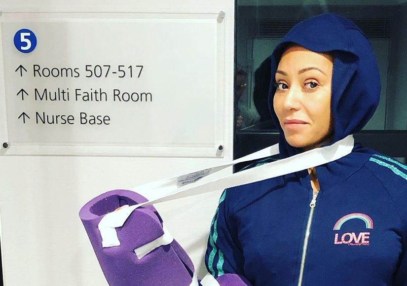 Mel B Hospitalized for 'Severed' Hand and Broken Ribs