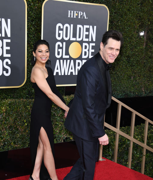 Pics! Jim Carrey & Ginger Gonzaga Are Dating — See Their Golden Globes Debut!