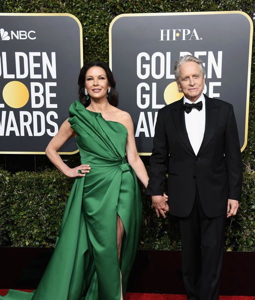 Michael Douglas & Catherine Zeta-Jones Take 'Extra's' Couple Quiz at the Golden Globes