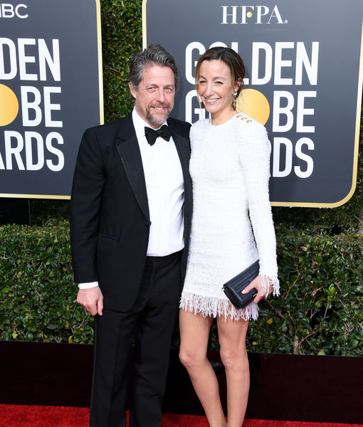 Hugh Grant Jokes About Wife Anna Eberstein Crying on Their Honeymoon