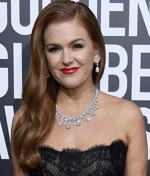 Actress Isla Fisher was wearing some serious bling at the 2019 Golden Globes!