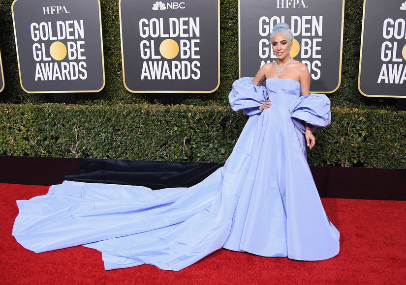 Lady Gaga Matched Her Hair to Her Golden Globes Dress and the Look Is Stunning