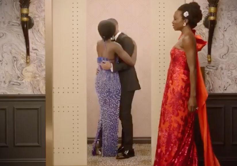 LOL! Michael B. Jordan & Lupita Nyong'o's Elevator Makeout Isn't What You Think