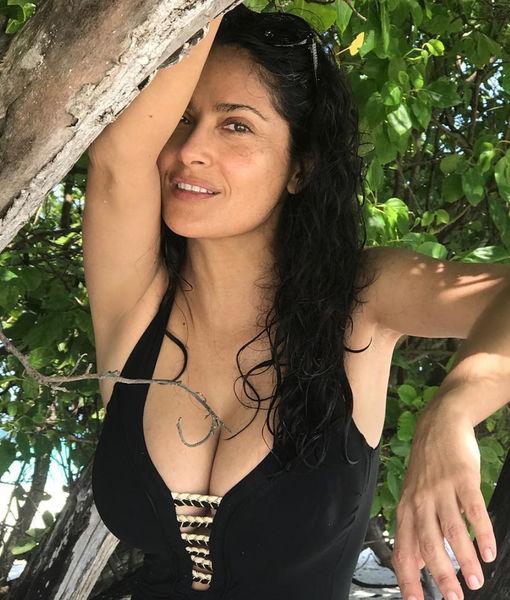Salma Hayek Is Smokin' Hot in These Sexy Vacay Pics