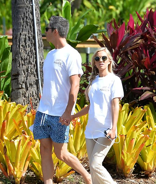 "A day after their wedding, Arie Luyendyk Jr. and Lauren Burnham were spotted in matching ""Just Maui'd"" T-shirts in Hawaii."
