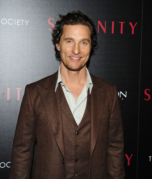 Matthew McConaughey Gushes About Celebrity Crush Diane Lane