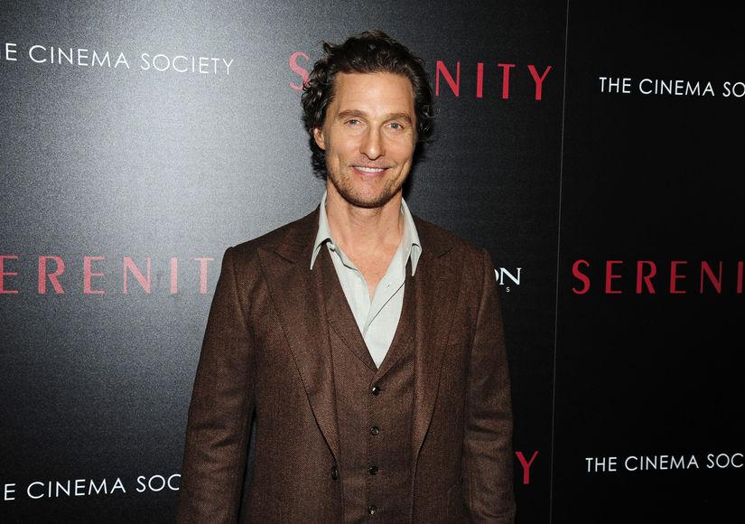 Matthew McConaughey Gushes About Celebrity Crush Diane Lane