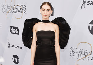 Alison Brie Wore the Most Dramatic Bow We've Ever Seen to the SAG Awards