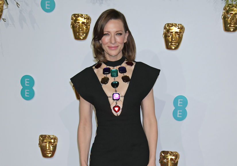 Cate Blanchett Shows Off New Brown Hair in London!