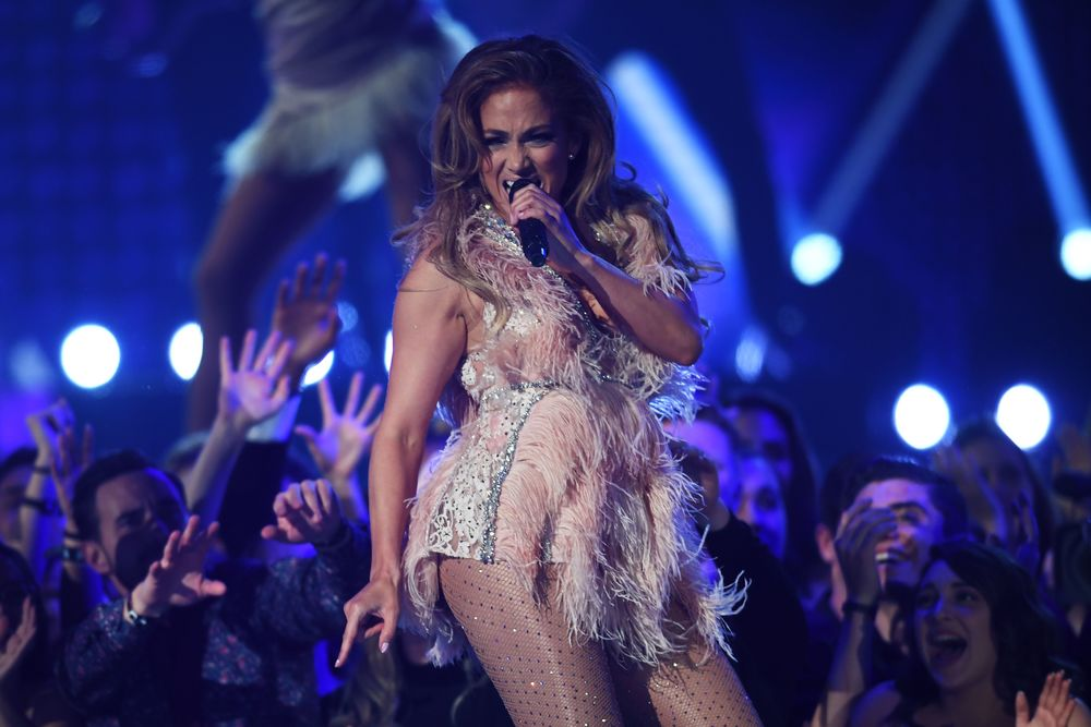 Jennifer Lopez performs onstage during the 61st Annual Grammy Awards